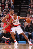 Los Angeles Clippers v Portland Trail Blazers: Eric Gordon and Andre Miller Photographic Print by Sam Forencich