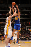 Golden State Warriors v Los Angeles Lakers: Dan Gadzuric and Pau Gasol Photographic Print by Noah Graham