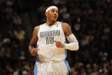 New York Knicks v Denver Nuggets: Carmelo Anthony Photographic Print by Doug Pensinger