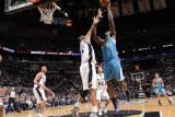 New Orleans Hornets v San Antonio Spurs: Emeka Okafor and Tim Duncan Photographic Print by D. Clarke Evans