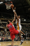 Los Angeles Clippers v Indiana Pacers: Brandon Rush and Brian Cook Photographic Print by Ron Hoskins