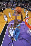 New Orleans Hornets v Sacramento Kings: Emeka Okafor and Samuel Dalembert Photographic Print by Rocky Widner