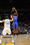 New York Knicks v Golden State Warriors: Amare Stoudamire and Vladimir Radmanovic Photographic Print by Rocky Widner