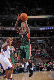 Milwaukee Bucks v Philadelphia 76ers: Brandon Jennings Photographic Print by Jesse D. Garrabrant