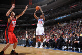 New Jersey Nets v Philadelphia 76ers: Lou WIlliams and Brook Lopez Photographic Print by Jesse D. Garrabrant