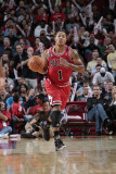 Chicago Bulls v Houston Rockets: Derrick Rose Photographic Print by Bill Baptist