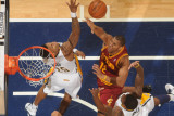 Cleveland Cavaliers v Indiana Pacers: Joey Graham and Brandon Rush Photographic Print by Ron Hoskins