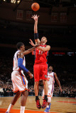 New Jersey Nets v New York Knicks: Brook Lopez and Amare Stoudemire Photographic Print by Nathaniel S. Butler