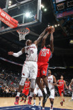 New Jersey Nets v Atlanta Hawks: Josh Smith and Damion James Photographic Print by Scott Cunningham