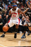 Detroit Pistons v Minnesota Timberwolves: Richard Hamilton and Wesley Johnson Photographic Print by David Sherman