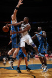 Orlando Magic v Washington Wizards: Gilbert Arenas and Marcin Gortat Photographic Print by Ned Dishman