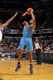 New Orleans Hornets v Sacramento Kings: David West Photographic Print by Rocky Widner