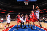 New Jersey Nets v Philadelphia 76ers: Marreese Speights and Brook Lopez Photographic Print by Jesse D. Garrabrant