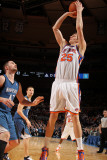 Minnesota Timberwolves v New York Knicks: Timofey Mozgov and Kevin Love Photographic Print by Nathaniel S. Butler