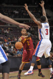 Cleveland Cavaliers v Detroit Pistons: Mo Williams and Rodney Stuckey Photographic Print by Allen Einstein