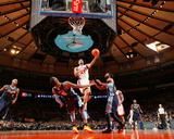Denver Nuggets v New York Knicks: Wilson Chandler and J.R. Smith Photographic Print by Nathaniel S. Butler