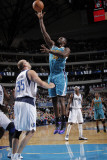 New Orleans Hornets v Dallas Mavericks: Emeka Okafor and Brian Cardinal Photographic Print by Glenn James