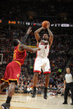 Miami Heat v Cleveland Cavaliers: LeBron James and J.J. Hickson Photographic Print by Nathaniel S. Butler