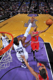 Chicago Bulls v Sacramento Kings: Derrick Rose and Jason Thompson Photographic Print by Rocky Widner
