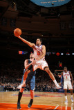 Minnesota Timberwolves v New York Knicks: Landry Fields and Kevin Love Photographic Print by Nathaniel S. Butler