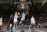 Miami Heat v Dallas Mavericks: Chris Bosh and Ian Mahinmi Photographic Print by Glenn James