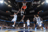 San Antonio Spurs v Denver Nuggets: Richard Jefferson and Aaron Afflalo Photographic Print by Garrett Ellwood
