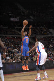 New York Knicks v Detroit Pistons: Raymond Felton and Rodney Stuckey Photographic Print by Allen Einstein
