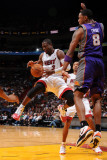 Phoenix Suns v Miami Heat: Dwyane Wade and Channing Frye Photographic Print by Andrew Bernstein