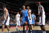 Oklahoma City Thunder v New Jersey Nets: Russell Westbrook Photographic Print by Jesse D. Garrabrant