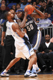 Memphis Grizzlies v Orlando Magic: Zach Randolph and Rashard Lewis Photographic Print by Fernando Medina