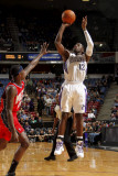 New Jersey Nets v Sacramento Kings: Tyreke Evans and Anthony Morrow Photographic Print by Don Smith