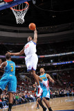 New Orleans Hornets v Philadelphia 76ers: Thaddeus Young and Chris Paul Photographic Print by David Dow