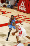 Oklahoma City Thunder v Houston Rockets: Shane Battier and Kevin Durant Photographic Print by Bill Baptist