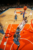 Minnesota Timberwolves v New York Knicks: Amar'e Stoudemire and Kevin Love Photographic Print by Nathaniel S. Butler