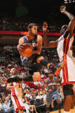 Charlotte Bobcats v Miami Heat: D.J. Augustin and Joel Anthony Photographic Print by Victor Baldizon