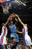 Washington Wizards v Detroit Pistons: Andray Blatche, Jason Maxiell and Tayshaun Prince Photographic Print by Allen Einstein