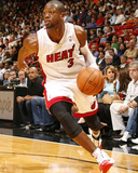 Detroit Pistons v Miami Heat: Dwyane Wade Photographic Print by Issac Baldizon