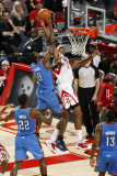 Oklahoma City Thunder v Houston Rockets: Serge Ibaka and Jordan Hill Photographic Print by Bill Baptist