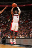 Indiana Pacers v Miami Heat: Dwyane Wade Photographic Print by Victor Baldizon