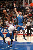 Orlando Magic v Los Angeles Clippers: Marcin Gortat and Baron Davis Photographic Print by Noah Graham