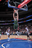 Milwaukee Bucks v Philadelphia 76ers: Jon Brockman Photographic Print by David Dow