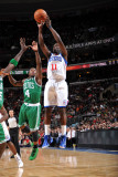 Boston Celtics v Philadelphia 76ers: Jrue Holiday and Nate Robinson Photographic Print by Jesse D. Garrabrant