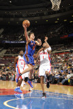 New York Knicks v Detroit Pistons: Danilo Gallinari and Tracy McGrady Photographic Print by Allen Einstein