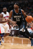Detroit Pistons v Minnesota Timberwolves: Corey Brewer and Jason Maxiell Photographic Print by David Sherman