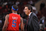 Los Angeles Clippers v Philadelphia 76ers: Vinny Del Negro and Baron Davis Photographic Print by Jesse D. Garrabrant