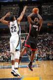 Miami Heat v Memphis Grizzlies: Rudy Gay and LeBron James Photographic Print by Joe Murphy