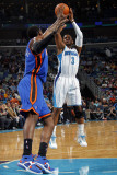 New York Knicks v New Orleans Hornets: Chris Paul and Arar'e Stoudemire Photographic Print by Layne Murdoch