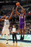 Los Angeles Lakers v Memphis Grizzlies: Ron Artest and Rudy Gay Photographic Print by Joe Murphy