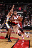 Utah Jazz v Portland Trail Blazers: Armon Johnson Photographic Print by Sam Forencich