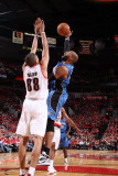 Orlando Magic v Portland Trail Blazers: Nicolas Batum and Vince Carter Photographic Print by Sam Forencich